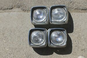 1968 Chrysler New Yorker Headlight Head Light Units Nice Of