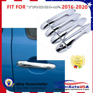 Door Handle Cover Fit For Toyota Tacoma 2016 2020 Mirror Chrome Molding Abs Trim