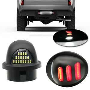 Red Neon Glow Led License Plate Tag Light For 1999 16 Ford F250 F350 F 450 F 550
