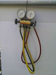 Yellow Jacket Test And Charging Manifold Gauges W Hoses R22 404a 410a 5 b47987c