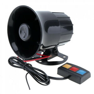 Motorcycle Car Warning Alarm Siren Horn Police Fire Loud Speaker 3 Sound Tone