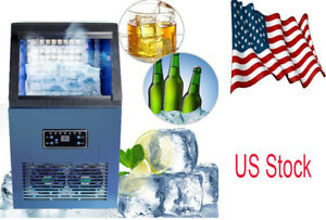 50kg 110v Auto Commercial Ice Maker Cube Machine Stainless Steel Bar 230w Sale