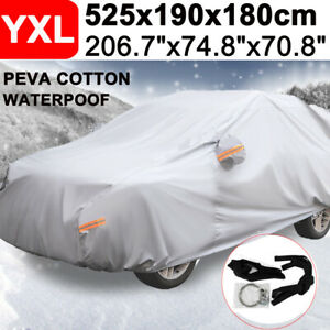 17ft Suv Full Car Cover Waterproof Outdoor Scratch Rain Snow Sun Dust Resistant