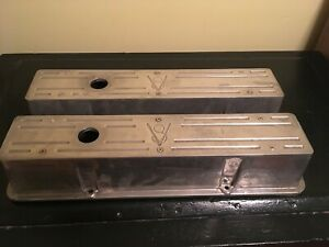 Custom Old V8 Ford Design Chevy Small Block Valve Covers Set