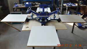 Right Angle Table Screen Printing Machine 4 Color 4 Station for T shirt Diy Logo