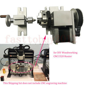 4th axis Rotary Axis Cnc Router Table Rotational A axis 3 Jaw For Cnc Milling