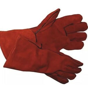 Welding Leather Gloves Red Leather Cowhide Protect Welder Hands 14