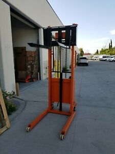 Electric Pallet Stacker Used For 1 Y Lift 1000 Lbs 5 2 Feet height W brakes