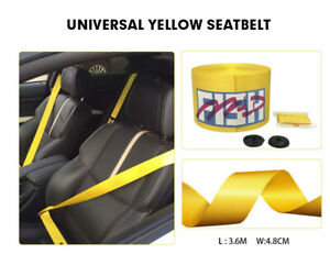 Universal Yellow Racing Car Safety Travel Seat Belt Fit For Cayenne Audi Bmw