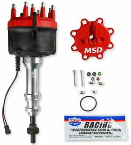 Msd Ignition 858051 Billet Distributor Ford 351w For Edelbrock Victor Jr Intake