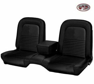1967 Mustang Coupe Front Rear Bench Seat Upholstery Black Vinyl Made By Tmi