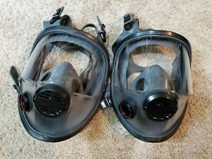 North Scba Gas Air Full Face Mask Respirator Series 93000 Medium large Lot Of 2