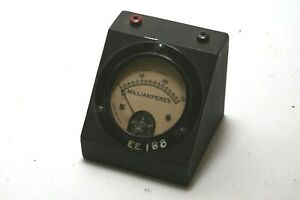 Vintage Jewell Electrical Ammeter Panel Meter Milliamperes 0 300 Free Shipping
