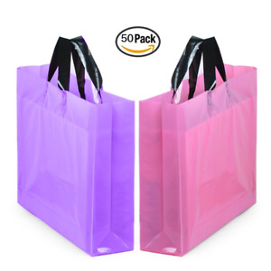 Yookeehome 14 X 18 Large Merchandise Bags With Handles With Bottom Gusset And