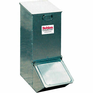 1 Door Economy Hog Feeder With Trough Feed Adjustment Control 12 l X 22 w X
