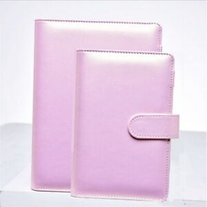 A5 A6 Notebook Gold pink Filofax Pu Leather Spiral Loose Leaf Refillable
