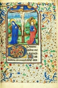 Book Of Hours Use Of Troyes Illuminated Manuscript High Quality Re Production
