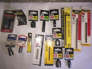Large Lot Of New Tools In Wrap Socket Drives Screwdriver Bits