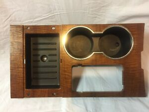 2007 2014 Ford Expedition Center Console Cup Holder Trim Bezel Wood Grain Oem