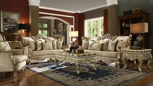 Magnificent 3 Pc Formal Living Room Set Sofa Loveseat Chair