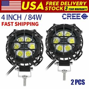 4inch 42w Pod Flood Round Led Work Light Fog Light Waterproof Offroad Driving
