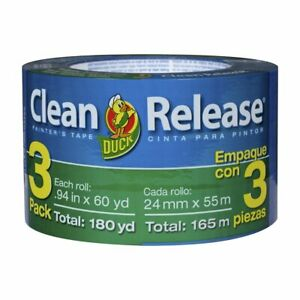 Blue Painters Tape 1 inch 0 94 inch X 60 yard Duck Clean Release 3 Rols