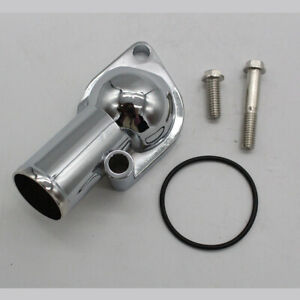 For Sb Bb Chevy Chrome Plated Water Neck Thermostat Housing 15 350 454 Block