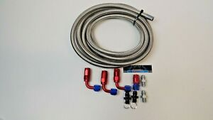 70 81 Automatic Transmission Cooler Line Kit 6an Steel Braided Th350 400 700r4