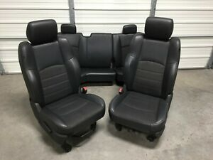2003 2018 Dodge 1500 2500 3500 Front Rear Seats Black Leather Cloth