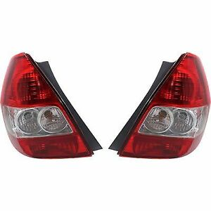 Pair Tail Light For 2007 2008 Honda Fit Driver Passenger Side