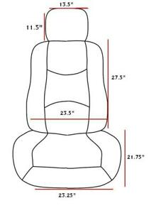 Le Front Pair Low Back 2 Bucket Seat Cover 8mm Deluxe Leatherette Set Universal
