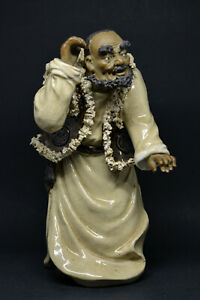 Stunning Shiwan Chinese Vintage Pottery Figurine 10 Inches Tall