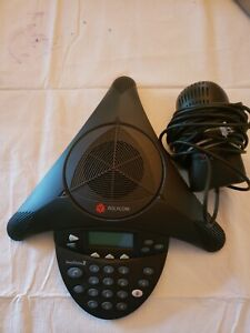 Polycom Soundstation 2 W Wall Adapter Conference Speaker Phone 2201 16200 001