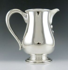 Vintage Solid Sterling Silver Ellmore Water Wine Pitcher Or Jug 8 No Mono
