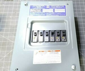 Square D Homeline Load Center 100 Amp 6 Space With 15 Amp Breakers Hom6 12l100