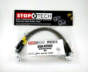 Stoptech Stainless Steel Rear Brake Lines For 03 15 Nissan 350z 370z