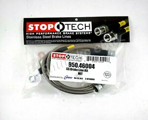 Stoptech Ss Stainless Steel Front Brake Lines For 95 99 Mitsubishi Eclipse