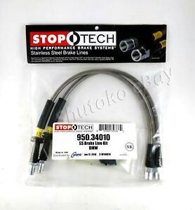 Stoptech Stainless Steel Ss Braided Front Brake Lines For 89 95 Bmw 5 Series E34