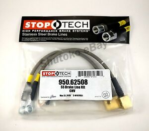 Stoptech Stainless Steel Braid Rear Brake Lines For 06 09 Chevrolet Trailblazer