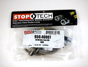 Stoptech Stainless Steel Front Brake Lines For 96 00 Honda Civic Ex 2dr Coupe