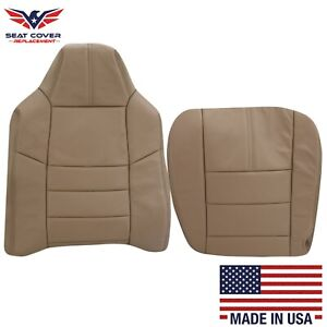2008 2009 2010 Ford F250 F350 Lariat Xlt Synthetic Leather Seat Cover Camel Tan