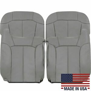 2000 2001 2002 Chevy Tahoe Suburban Synthetic Leather Seat Cover Light Gray 122