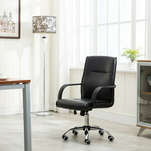 High Back Pu Leather Executive Office Work Desk Task Computer Boss Luxury Chair