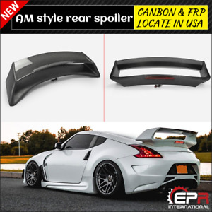 Epr For Nissan 370z Z34 Amus Style Carbon Fiber Frp Rear Trunk Spoiler Wing