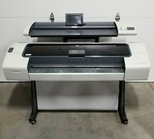Hp Designjet T1120 44 Wide Format Printer Plotter With Hp T1120 Sd mfp Scanner