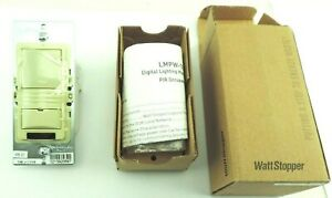 Watt Stopper Lmpw 101 i Digital Pir Wall Switch 1 button Ivory W Dlm Devices