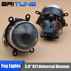 Fog Lights Universal Bi xenon Projector Lens Hi lo Beam Driving Lamps Waterproof
