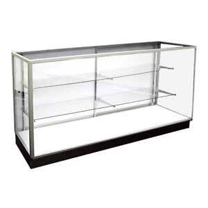 Extra Vision Showcase Glass Display Case Retail Store Fixtures 4 Long