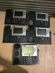 Lot Of 6 Cisco 7960 Series Ip Phone No Headset