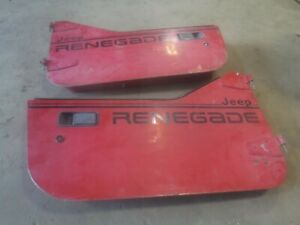 Jeep Wrangler Yj Cj7 82 95 Factory Half Steel Hard Doors See Ad Renegage Edition